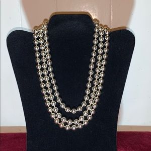 Vintage Silver Bead Necklace